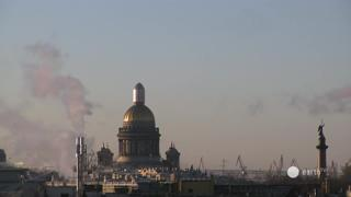 Saint Petersburg Church of the Savior on Blood Weather Clips