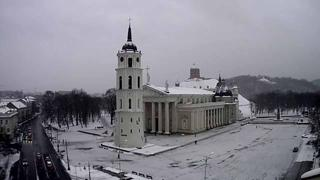 Vilnius Cathedral Square Weather Clips