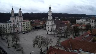 Kaunas Place centrale Weather Clips